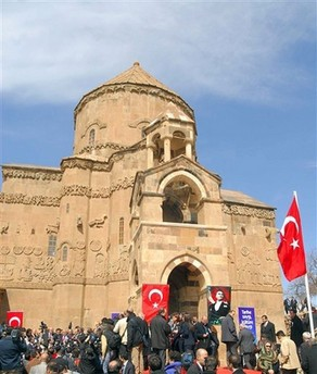 Common celebration without Armenian flags