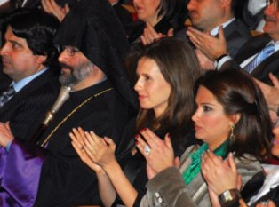 Syria's First Lady attending the event