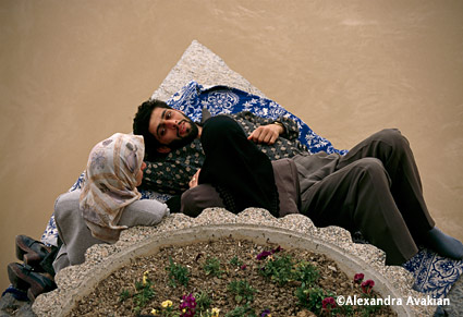 Couple in Iran by Alexandra Avakian