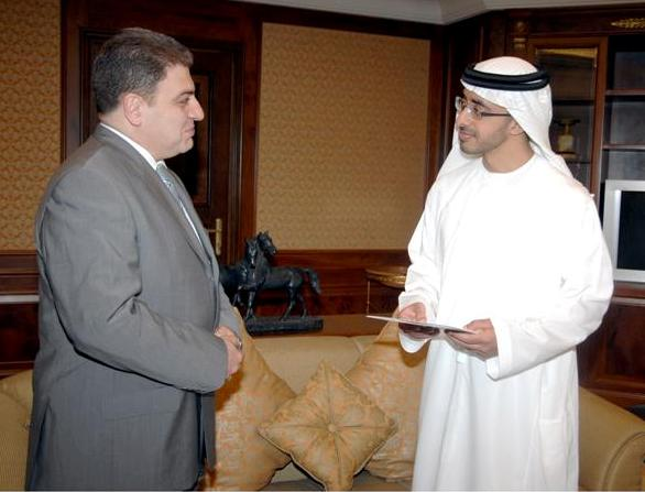 Ambassador Melikian with Sheikh Abdulla bin Zayed Al Nahyan, UAE Minister of Foreign Affairs