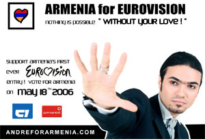 Armenian pop star ranked 8th in the Eurovision 2006 contest in Athens