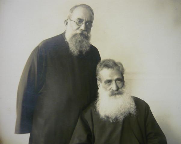 The founders of the Seminary Catholicos Sahag and Catholicos Papken