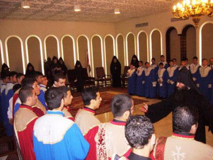 The inauguration of the Antelias Seminary's new academic year