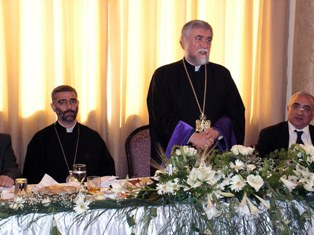 Official luncheon given in honor of Aram Catholicos in Aleppo