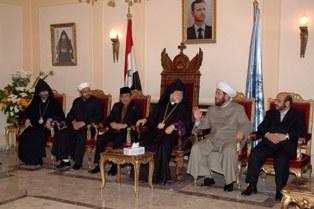 Grand Mufti of Syria visits Aram Catholicos