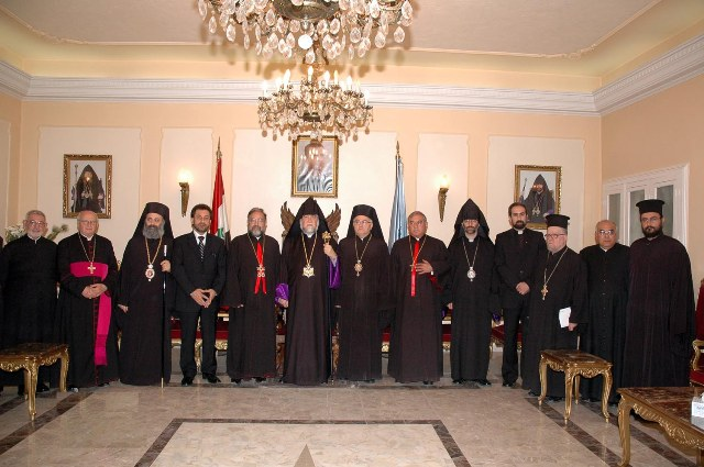 With the Primates of the Christian communities in Aleppo