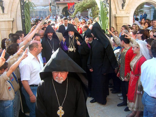 At Saint Asdvadzadzine Church in Aleppo