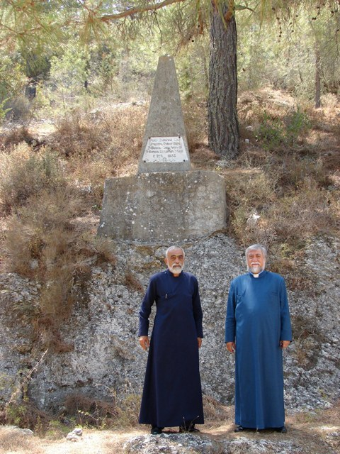 Catholicos Aram visiting Saint Magar Monastery