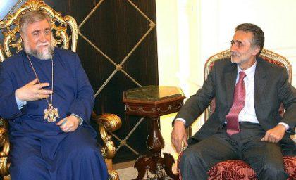 Foreign Minister of Nagorno Karabakh visits Antelias