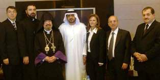 Al Kaabi with the Armenian delegation
