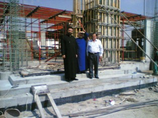 In the construction site of the new Armenian Embassy in Abu Dhabi