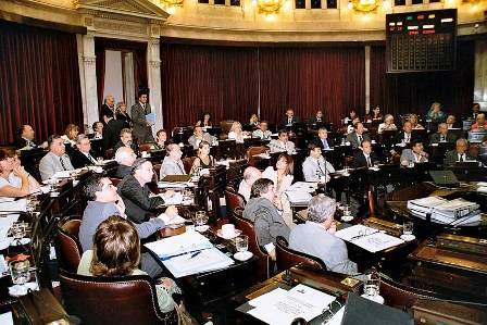 Argentinean Senate during the voting session of the Armenian Genocide Law
