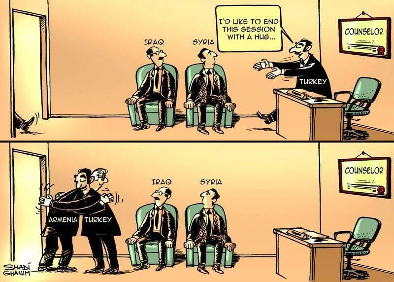 Shadi Ghanim's cartoon on Armenian - Turkish relations
