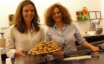 Mayrig restaurant's owner Kamakian and co-author Drieskens promote their new cooking book