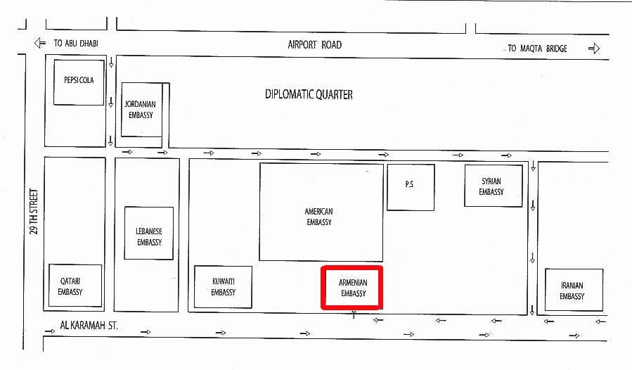 Embassy location map