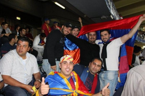 Armenian fans in the World Club Championship