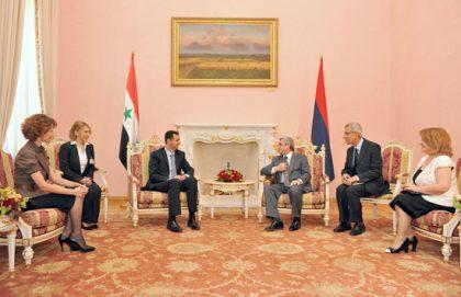 Syrian President Al-Asad visits Armenia