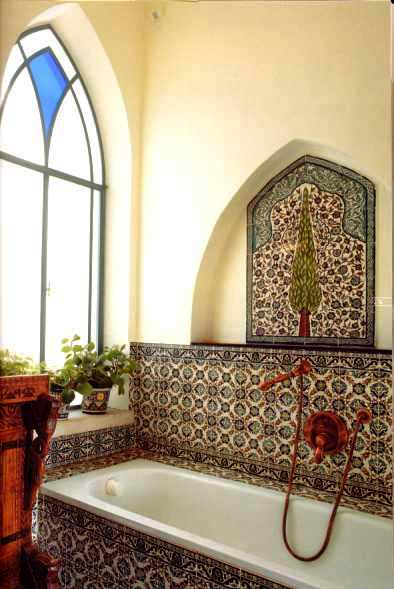 Bathroom sample made by Balian Armenian Ceramics studio