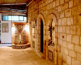 Entrance to the Balian family museum in Jerusalem