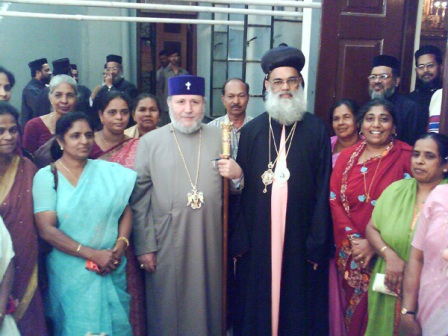 With His Eminence Geevargehse Mar Coorilos, Metropolitan of Bombay of the Malankara Orthodox Church