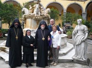 Catholicos Aram I visits Italian Catholic Church in Naples named 'Saint Gregory the Armenian'