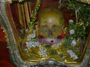 The skull of St. Gergory the Illuminator