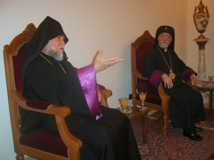 Aram I meets with the spiritual leaders of the Armenian Catholic and Evangelical Churches