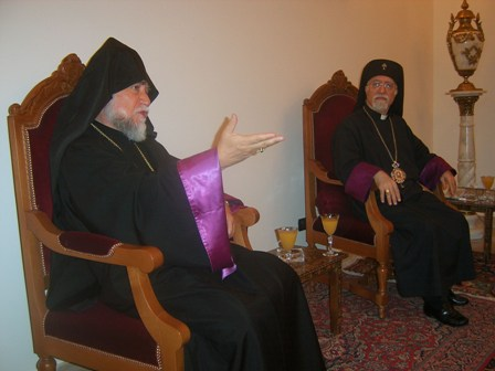 Aram Catholicos and Nerses Bedros Tarmouni Patriarch of Armenian Catholics