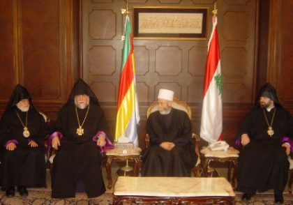 Aram I visits the spiritual leader of the Druze community in Lebanon