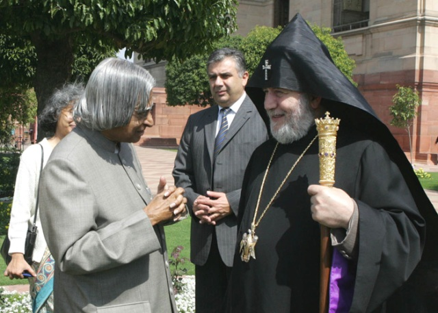 Catholicos Karekin II with President of India