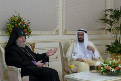 Catholicos Karekin II meets with the Ruler of Sharjah