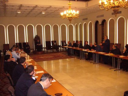 A meeting between the Central Executive Committee and the representatives of dioceses