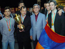 WITH DEFENCE MINISTER SERZH SARKISIAN