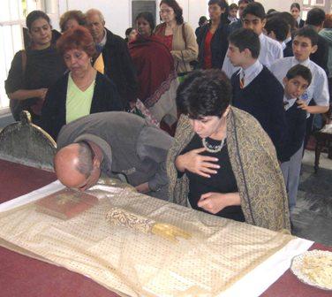 Honoring the relic of Saint John the Baptist