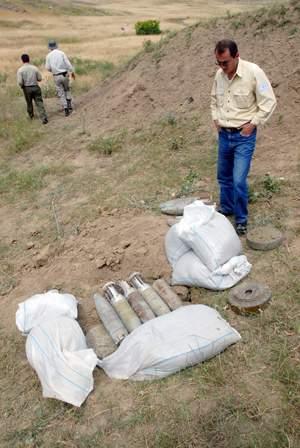 Clearing minefields in Karabakh