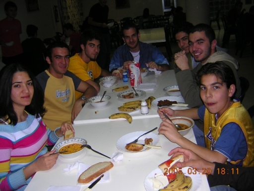 Old Melkonian students during their dinner course