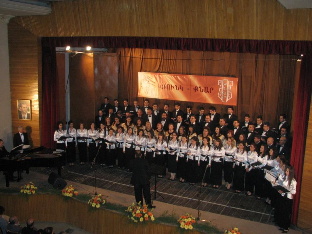 Groung and Knar choirs in Damascus event