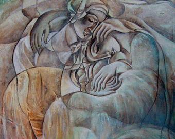 Painting by Daniel Varoujan Hejinian