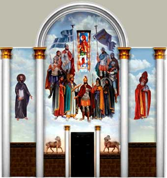 Murals in the Armenian Church by Varoujan