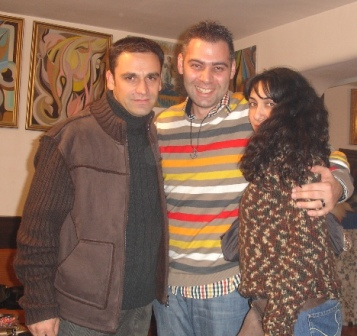 With Azad-Hye representative Carlos Jose Bourdjian and wife Garine