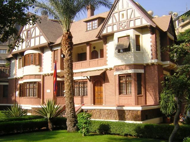 The building of the Armenian Embassy in Cairo