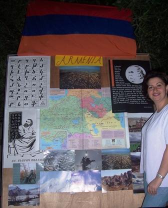 Ankine Havanjian-Hagopian at the Armenian stand in Qatar Food Festival