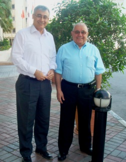 Garbis Kesisoglu (left) and Hrach Kalsahakian (right)