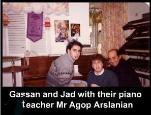 With piano teacher Agop Arslanian