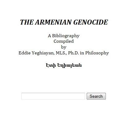 Armenian Genocide Bibliography