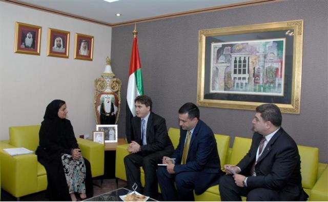 Deputy Prime Minister Armen Gevorgyan with UAE Minister of Foreign Trade Sheikha Lubna Al Qasimi
