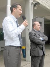 Great grandson of commander Tro visits an Armenian school in Beirut