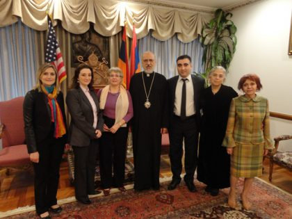 Official visits of Hamazkayin members in New York