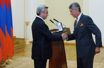 Harout Khatchadourian is awarded with 'Movses Khorenatsi' Medal