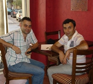 During the interview: Carlos Jose Bourdjian (left) and Hrach Keshishian (right).